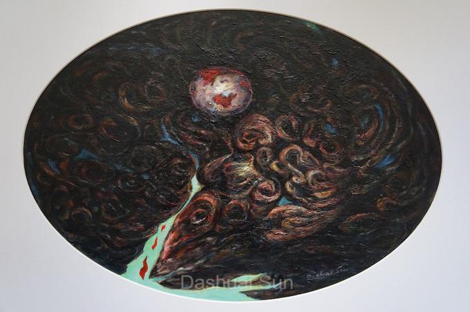 梦境系列 50-《从昏暗的天体抛下一只轻球》