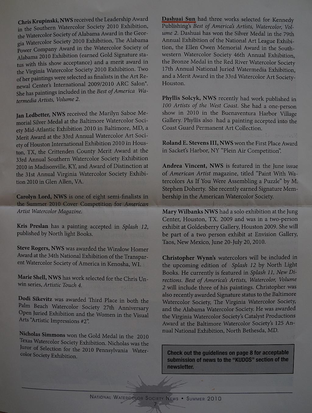 NWS News Summer 2010-02