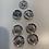 Thumbnail: Lot of Wire wheel STRIGHT spoke hubs