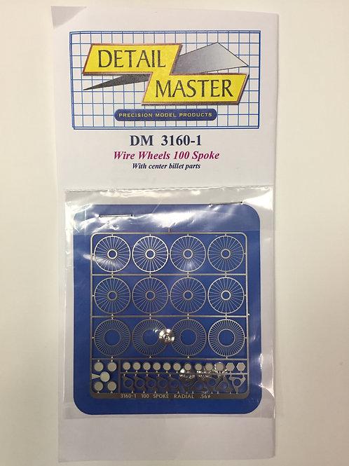 Detail Master Photo Etch 100 Spoke Wire Wheels