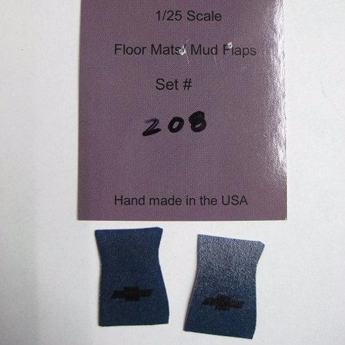 Chevy Bow Tie Floor Mats, 208