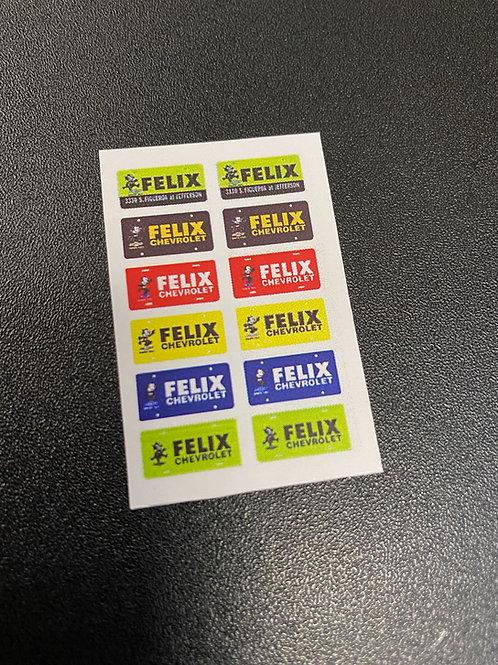 Photo Media 1/24, 1/25 Felix Dealer Style Plate Inserts, MIX 3