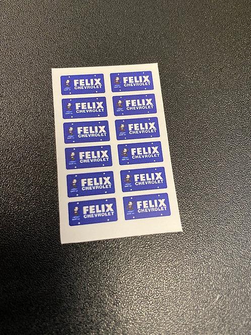 Photo Media Blue Felix Dealer Style Plate Inserts, 1/24, 1/25