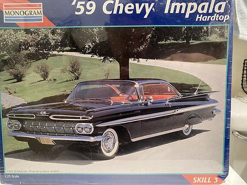 Monogram 1959 Chevy Impala, original kit