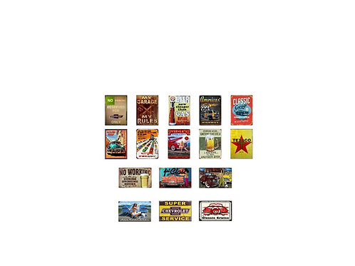 Photo Media 1/24, 1/25 Scale Garage Tin Style Signs