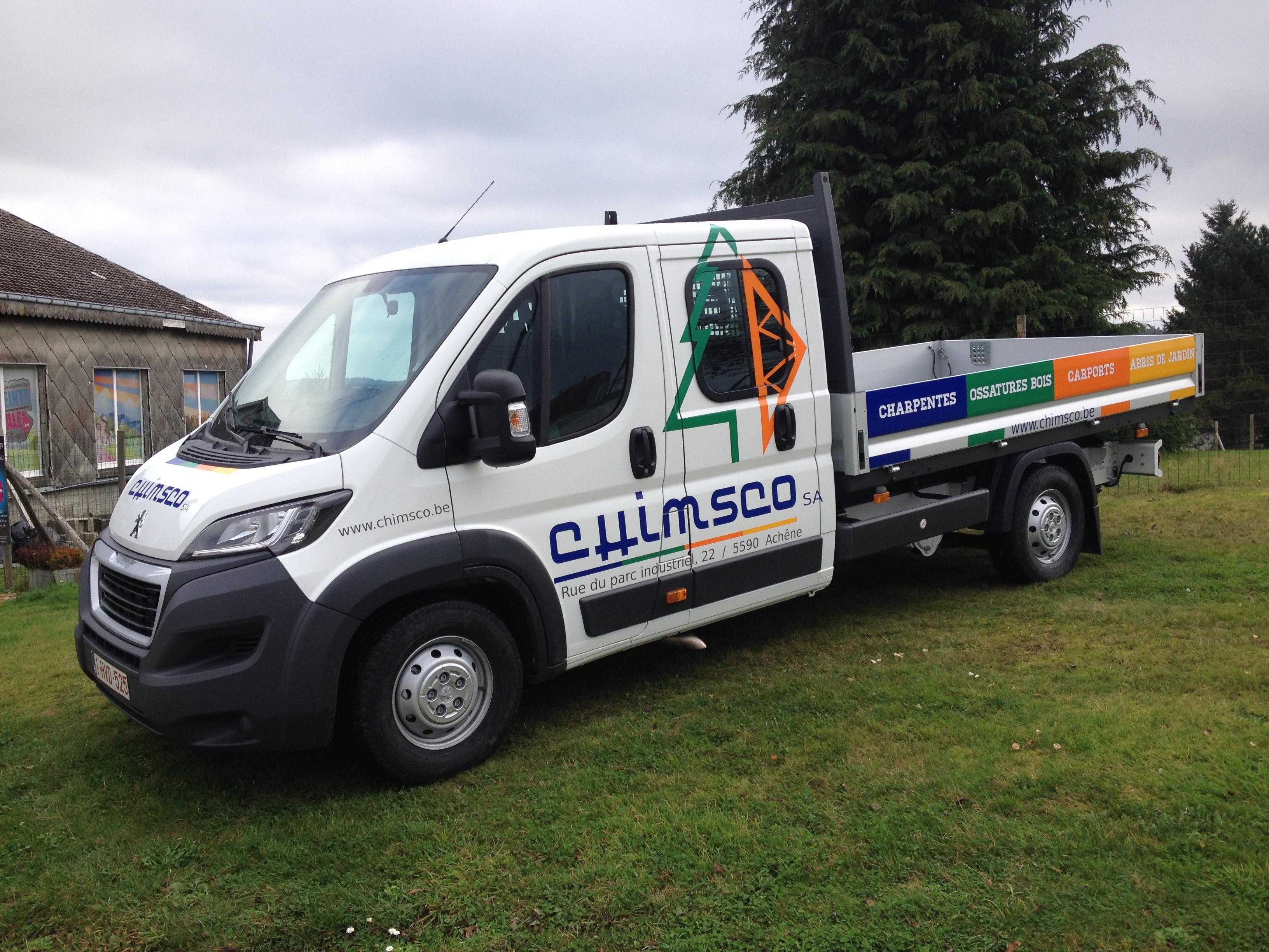 lettrage camionnette plateau