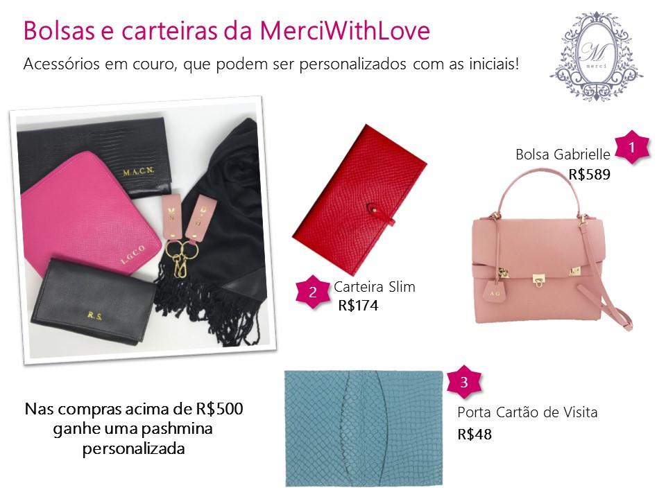 bolsas, carteiras e acessórios personalizados merciwithlove