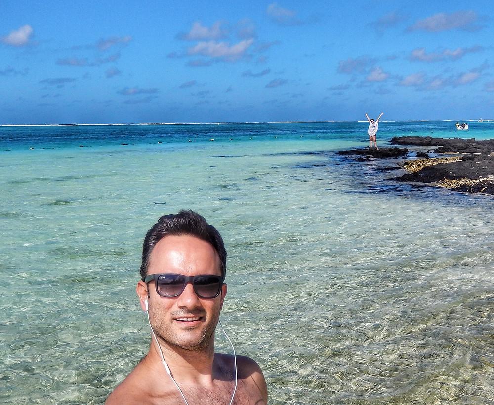 Selfie no mar - ilhas mauritius