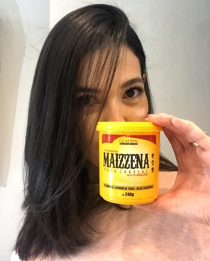 Creme alisante sem química - Maizzena da Glatten