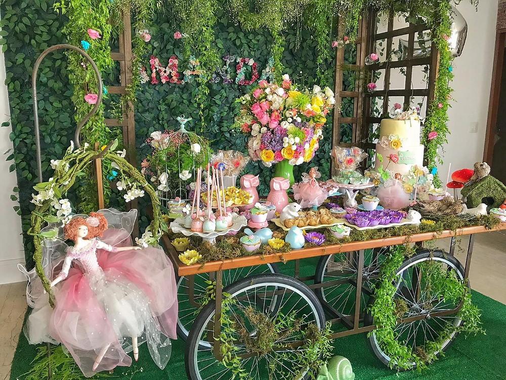 Mesa festa jardim encantado