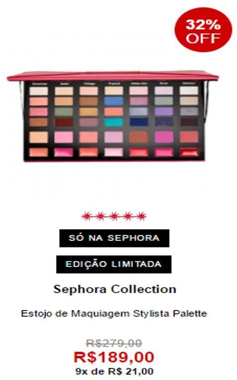 Estojo de maquiagem da Sephora Collection