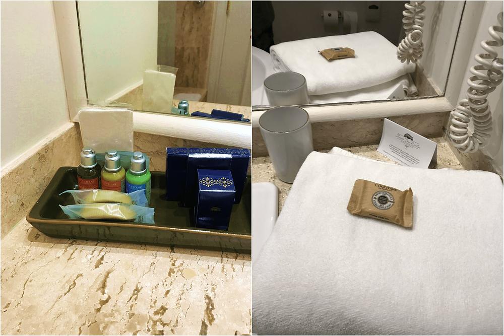 Amenities de banho da L´occitane - hotel dona carolina