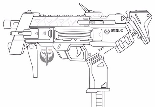 Sombras machine pistol digital blueprint these digital blueprint illustrate the pistol in a vector format and include 2 files right view of the full pistol and left view of full pistol malvernweather Gallery