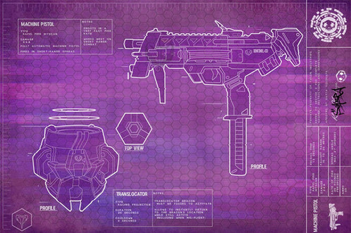 Sombras machine gun blueprint poster this print is a personal made design of sombras machine gun from my original sombras gun blueprints a high quality print acid free 60lb paper malvernweather Gallery