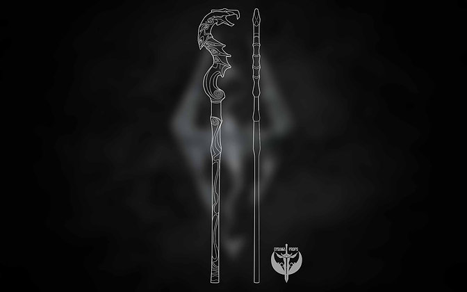 Dragon Priest Staff Blueprints