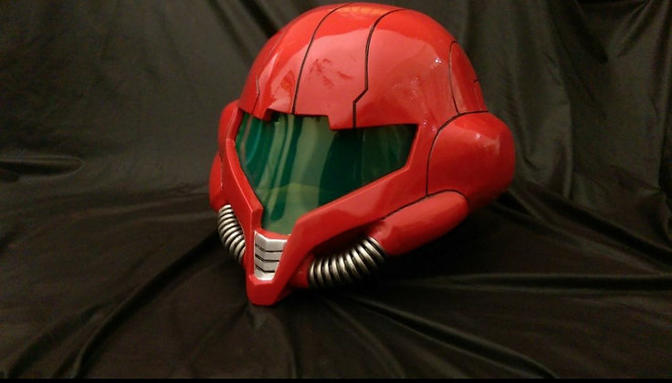 Raw unpainted Samus helmet kit