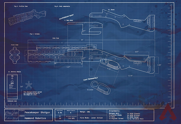 Apex Legends- Peacekeeper Blueprints