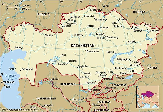Kazakhstan-map-boundaries-cities-locator