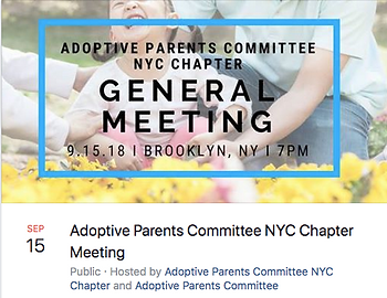 Adoptive Parents Comittee General Meeting Event Info