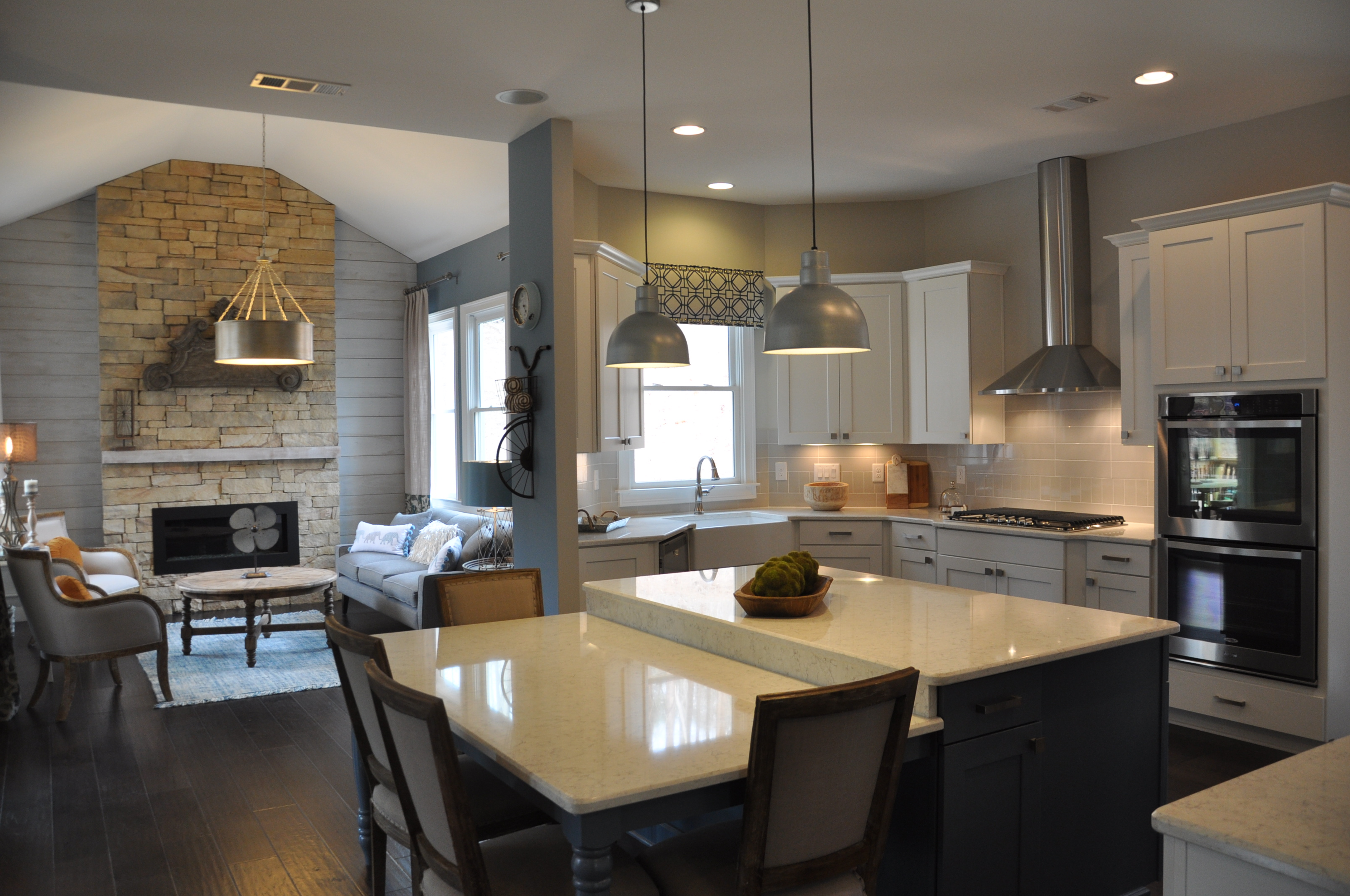 Kitchen and Harth Room