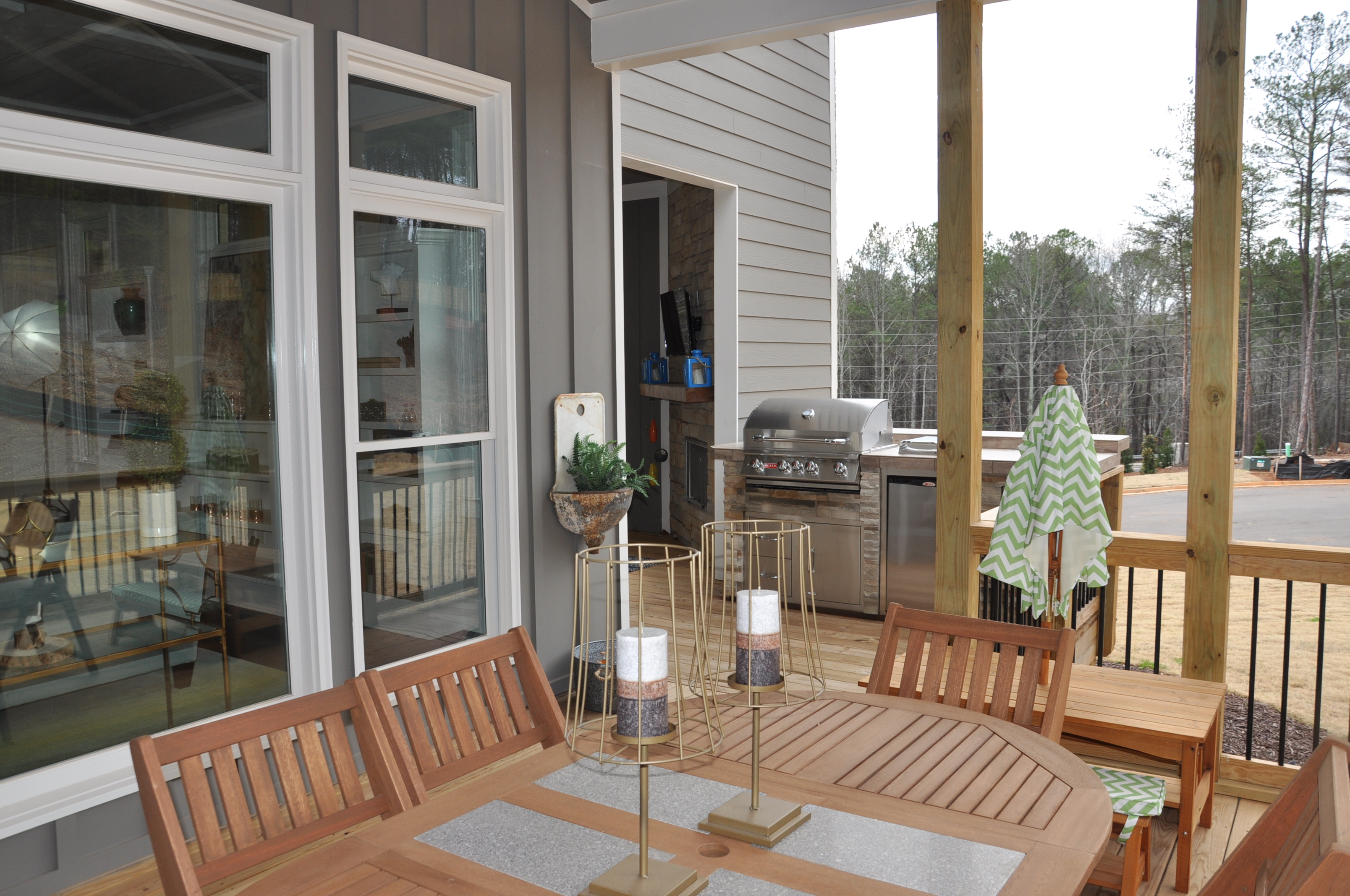 Back Porch with grill