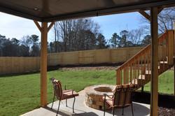 Lower level view of backyard