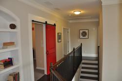 View of Media Room barn door