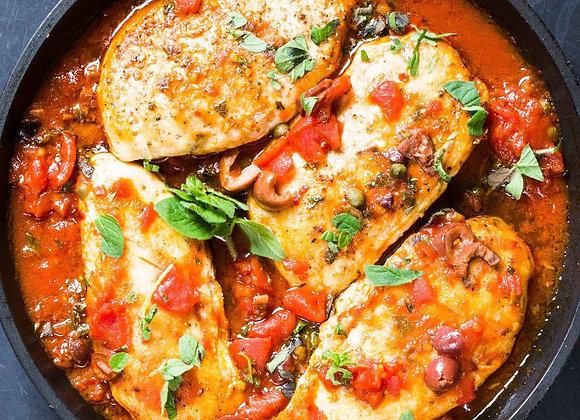 Chicken Puttanesca Dinner