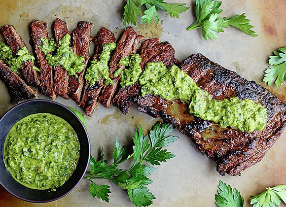 Argentinian Steak & Chimichurri Sauce