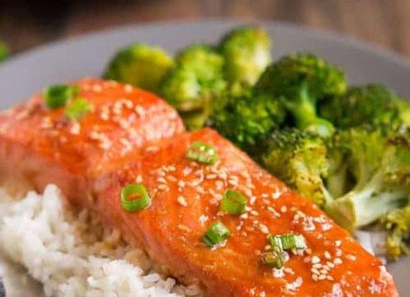 Sesame Ginger Glazed Salmon