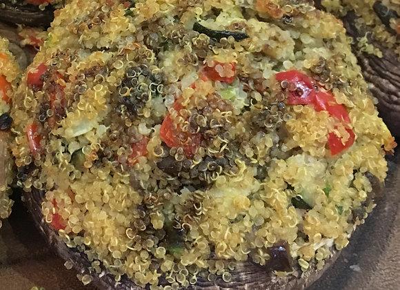 Quinoa Stuffed Portobello Mushroom