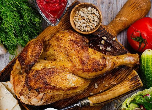 Roasted Half Chicken Dinner