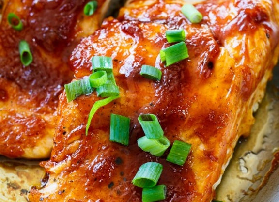 BBQ Glazed Salmon