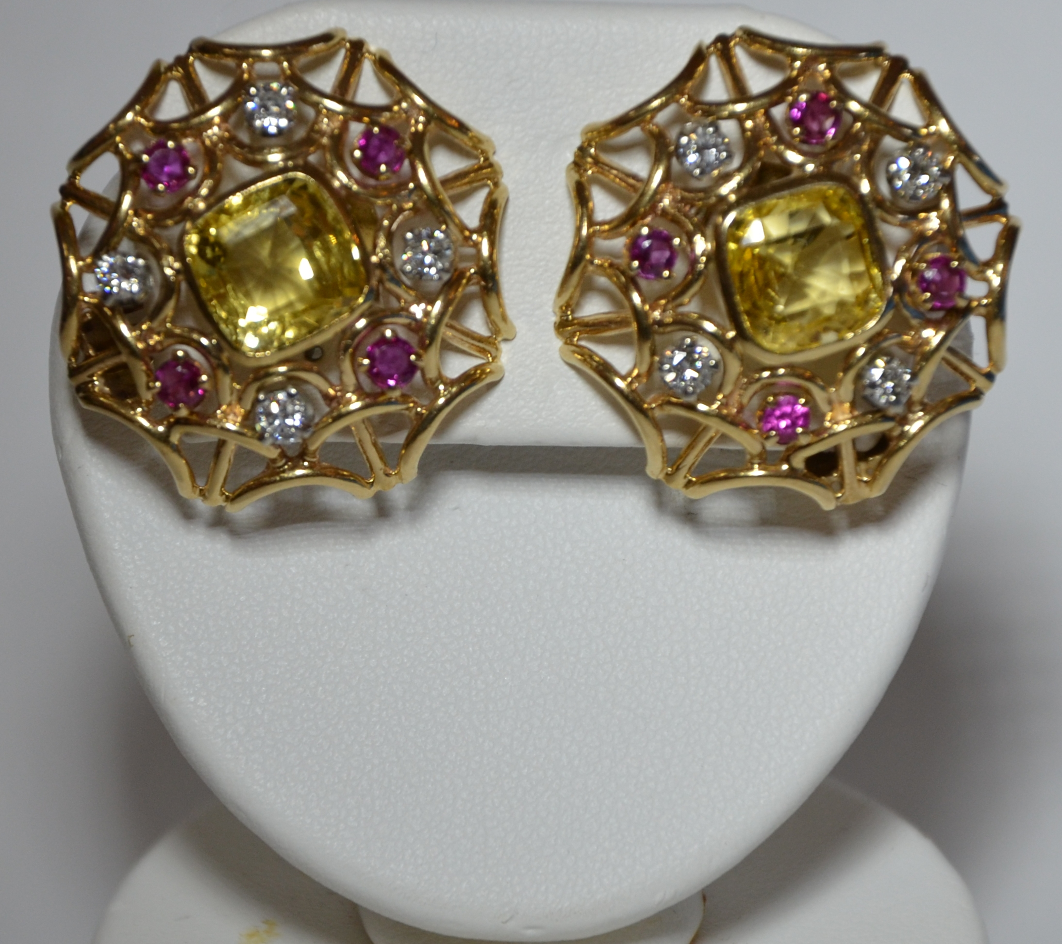 14k Ruby, Diamond & Yellow Sapphire