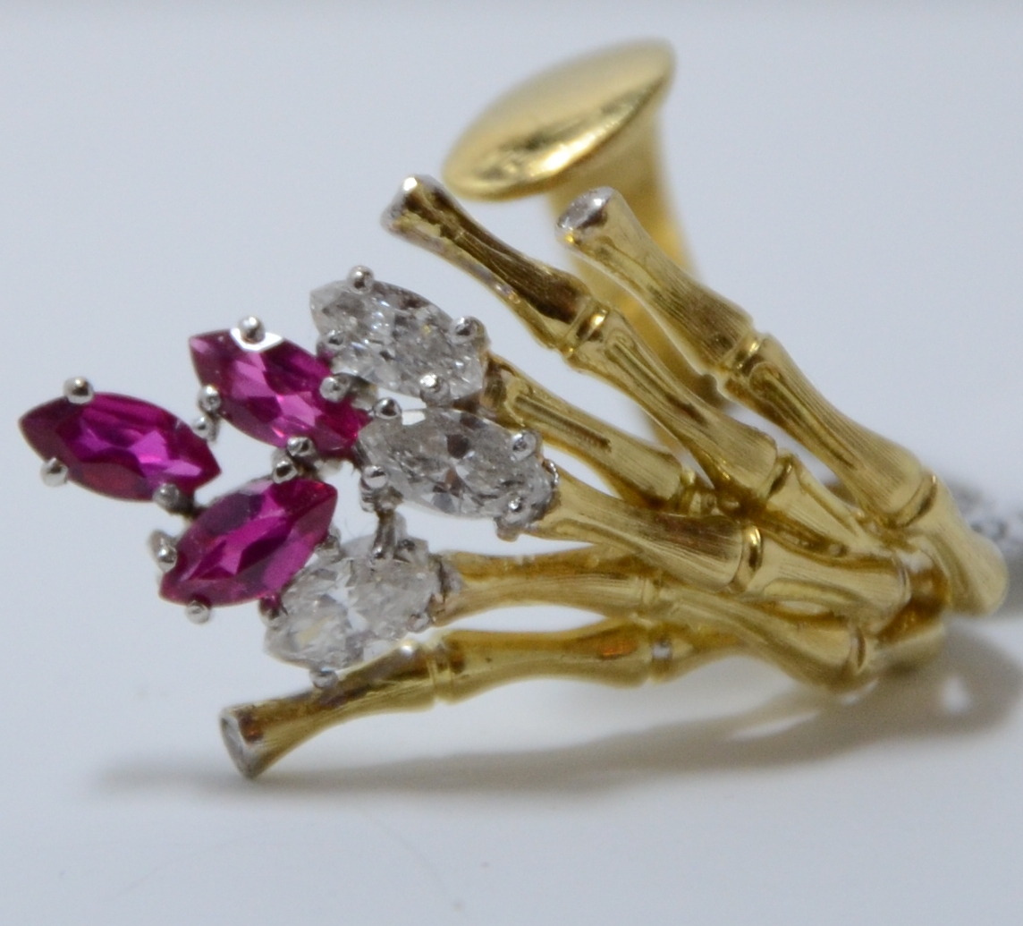 18k Diamond & Ruby Ring
