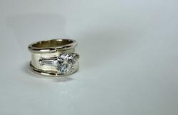 Custom 14k Diamond Engagement Ring