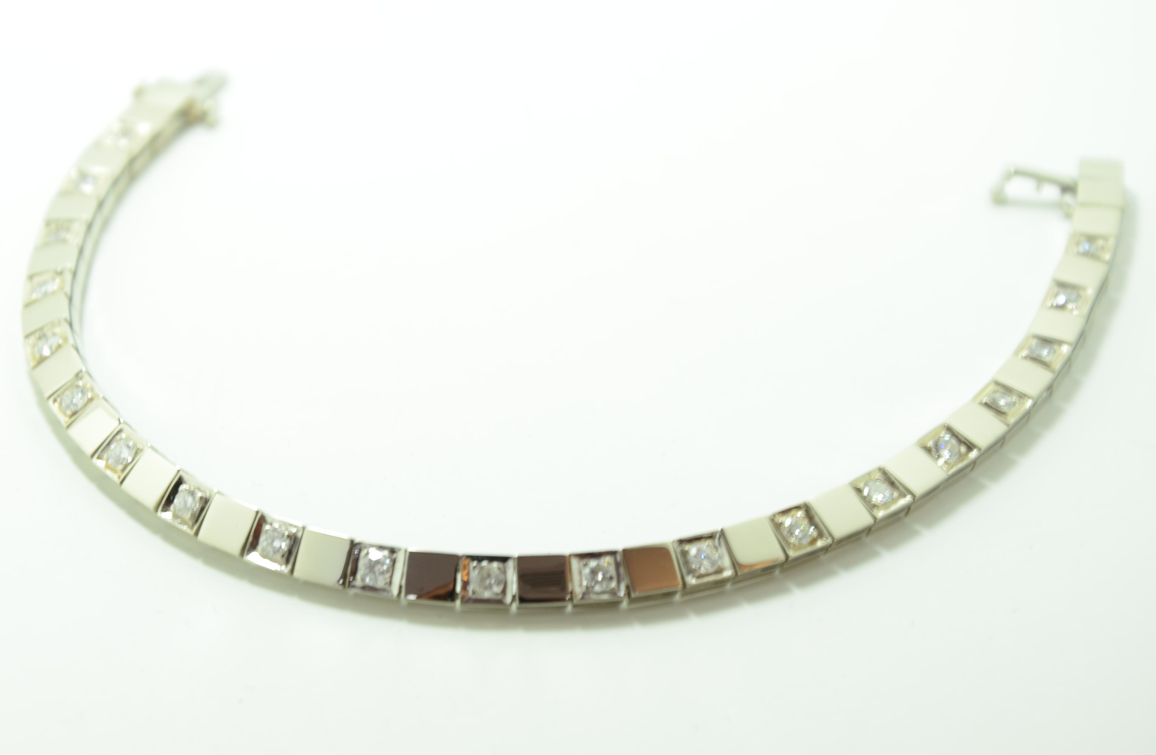14k Diamond tennis bracele