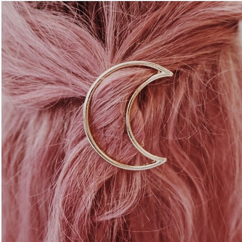 Moon Metal Barrette