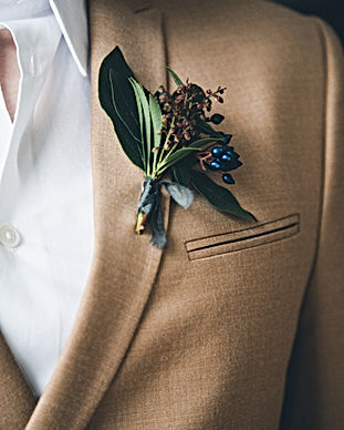 Groom in a jacket. The morning of the gr