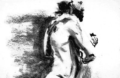 SOLD   Charcoal Figure