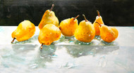 7 Pears on Glass and Water