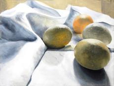 SOLD   Hens Eggs on Linen