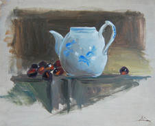 Teapot and Grapes