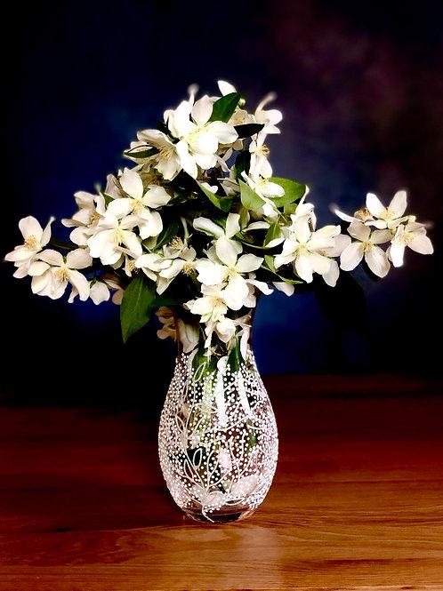 Glitter & White Blossom