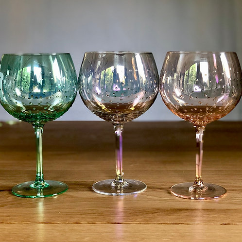 Individual Silver lustre gin glass