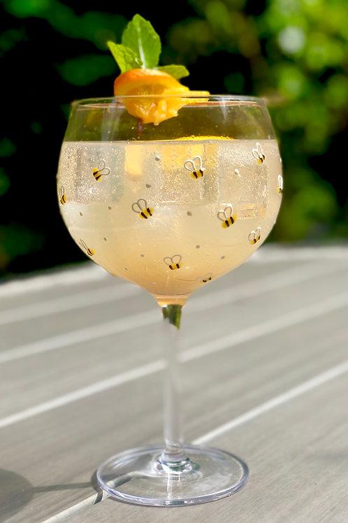 Cute Bumblebee Gin Glass