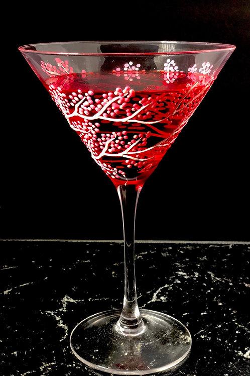 Cherry Blossom Martini Glass