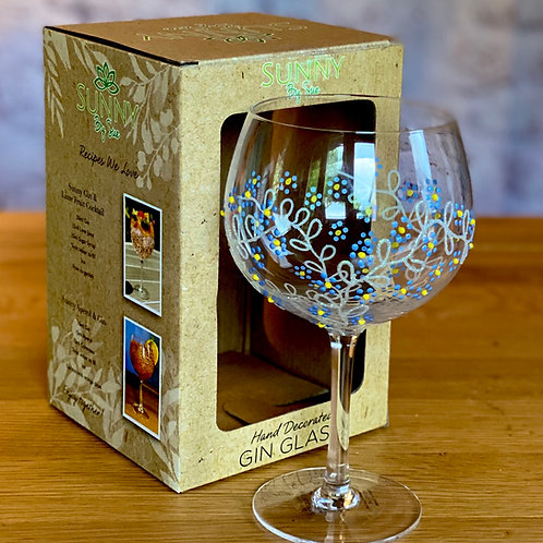 Forget Me Not Gin Glass