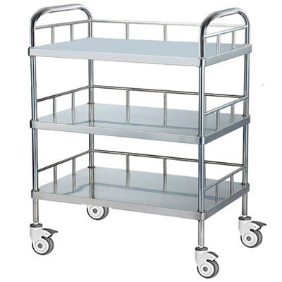 TROLLEY 3-SHELF S/STEEL - TIANJIN