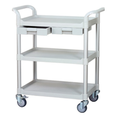 TROLLEY 3-SHELF 2-DROW PLASTIC - MX-LRD
